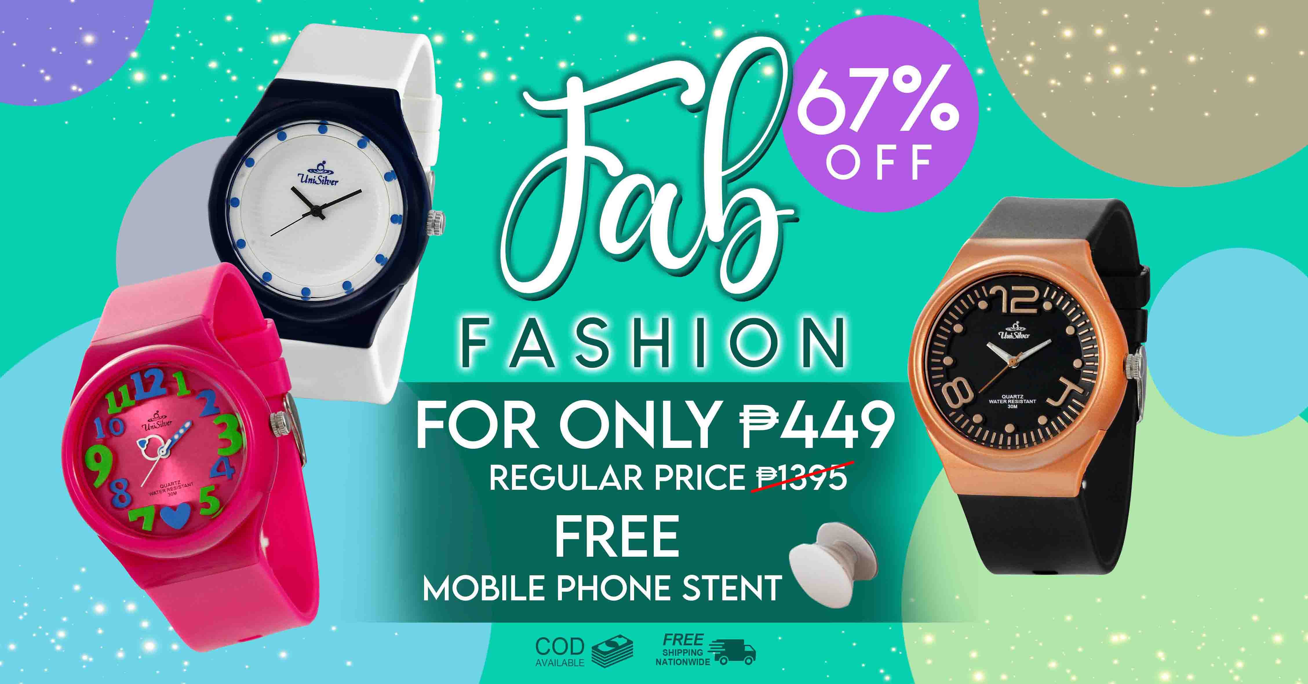 t's time to upgrade your style! Pick any 1 watch for ₱449. only plus free mobile phone stent. Hurry and order now as this promo is only available online http://www.unisilvertime.com/.  Free shipping nationwide and COD option is available. Shop now here >>> https://bit.ly/2ZiWFlN