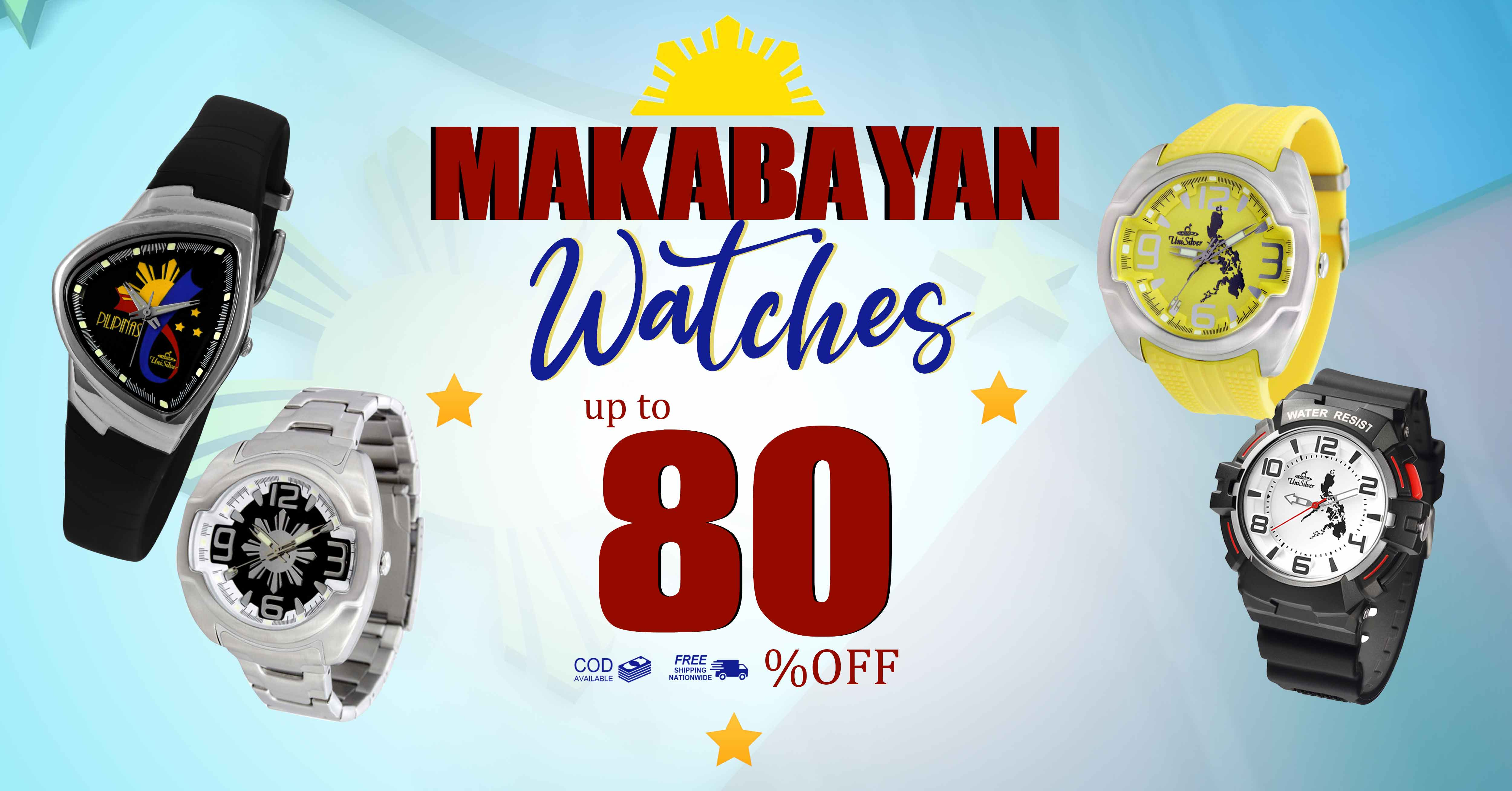 Makabayan Watches up to  80% OFF! 
