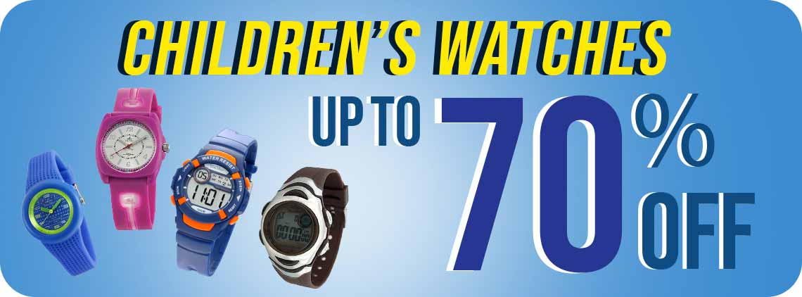 For the young ones, they will surely love our collection of wonderful and fun watches just for them!  Different styles and colors coordinate with their outfits and let them express themselves.