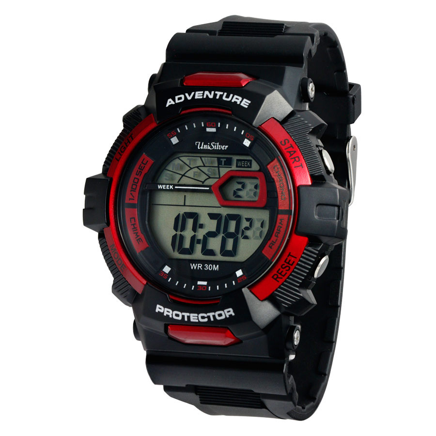 rubber time unisilver watches adventure mens sports digital quantum