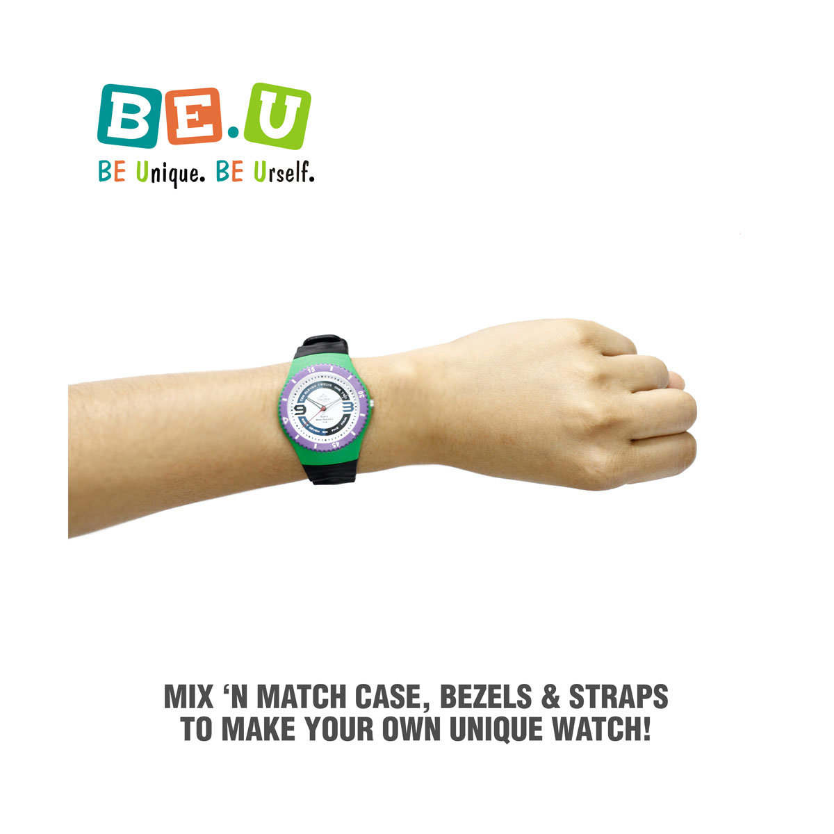 Be U Interchangeable Rubber Analog Watch