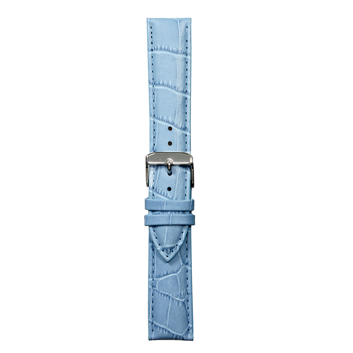 LEATHER PALE BLUE WITH CROCODILE SKIN DESIGN 20mm