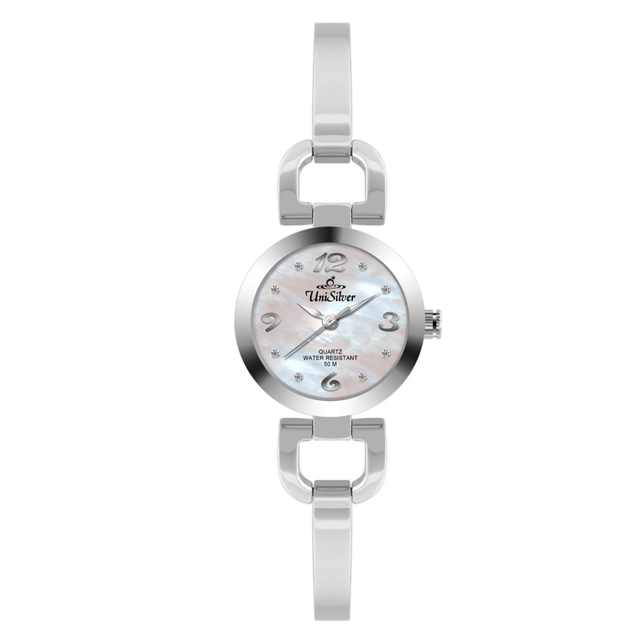 AZURE STAINLESS STEEL ANALOG WATCH