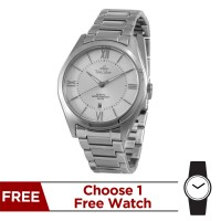 FLUIRE STAINLESS STEEL ANALOG WATCH