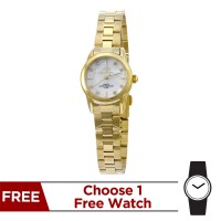 CLARITHEA GOLD  ANALOG STAINLESS STEEL WATCH