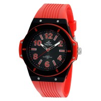 MENS RIVEN ANALOG RUBBER WATCH