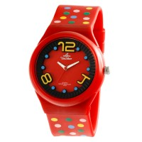 POLKA FLXY RED RUBBER WATCH