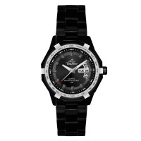 TRAXXION BLACK STAINLESS STEEL ANALOG WATCH