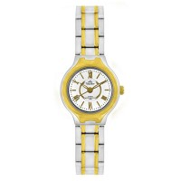 ARKOS TWO TONE ANALOG STAINLESS STEEL WATCH