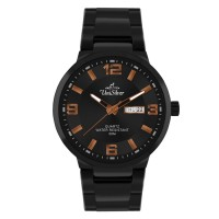 PERFECTO BLACK STAINLESS STEEL ANALOG WATCH