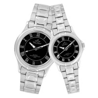 AMARANTH ANALOG STAINLESS STEEL PAIR WATCH
