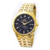 NOVOSTELLA PAIR  GOLD STAINLESS STEEL WATCH