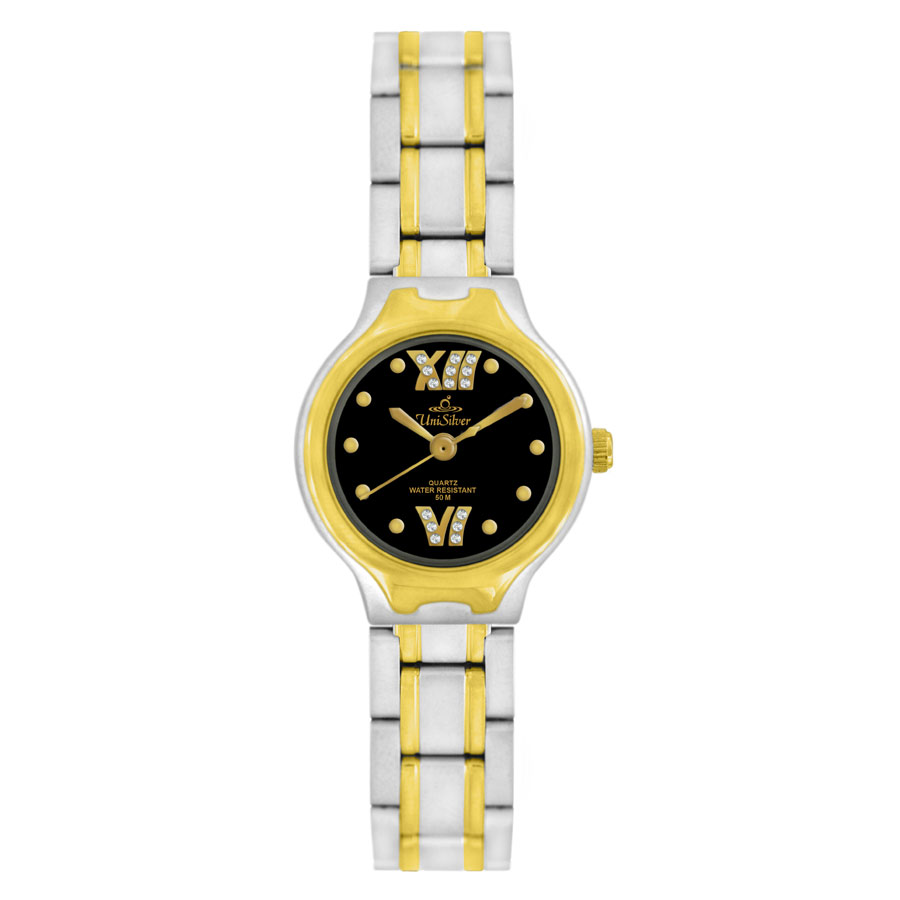 QUINN TWO TONE STAINLESS STEEL ANALOG WATCH