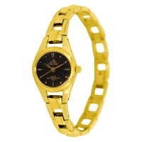 STAINLESS GOLD STEEL ANALOG WATCH