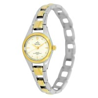 STAINLESS TWO TONE  STEEL ANALOG WATCH