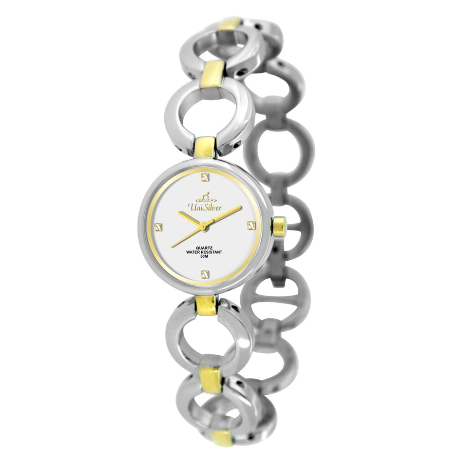 SERENITY TWO TONE STAINLESS STEEL ANALOG WATCH