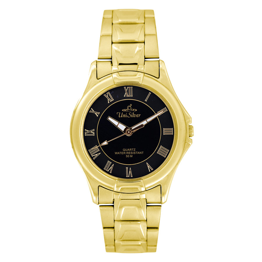 AMARANTH GOLD STAINLESS STEEL ANALOG WATCH