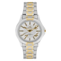 ZEAL TWO TONE  STAINLESS STEEL ANALOG WATCH