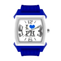 SMALL I LOVE PH RUBBER ANALOG WATCH