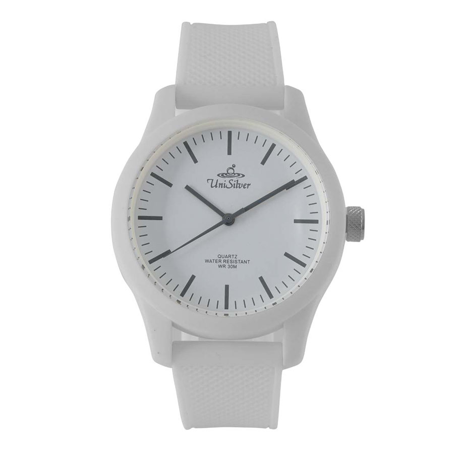 Unisilver TIME Unisex White Analog Rubber Watch