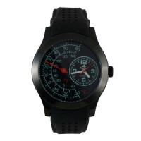 Unisilver TIME Men's Black Analog Rubber Watch