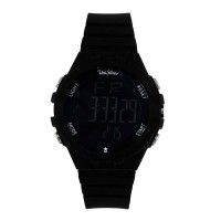 UniSilver TIME Mens Black Digital Rubber Watch