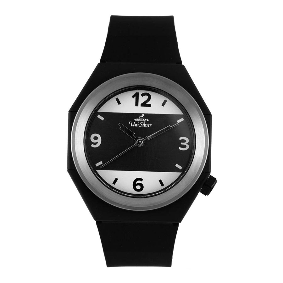 Unisilver TIME Unisex Black Analog Rubber Watch