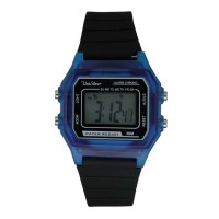 UniSilver TIME Mens Blue Digital Rubber Watch