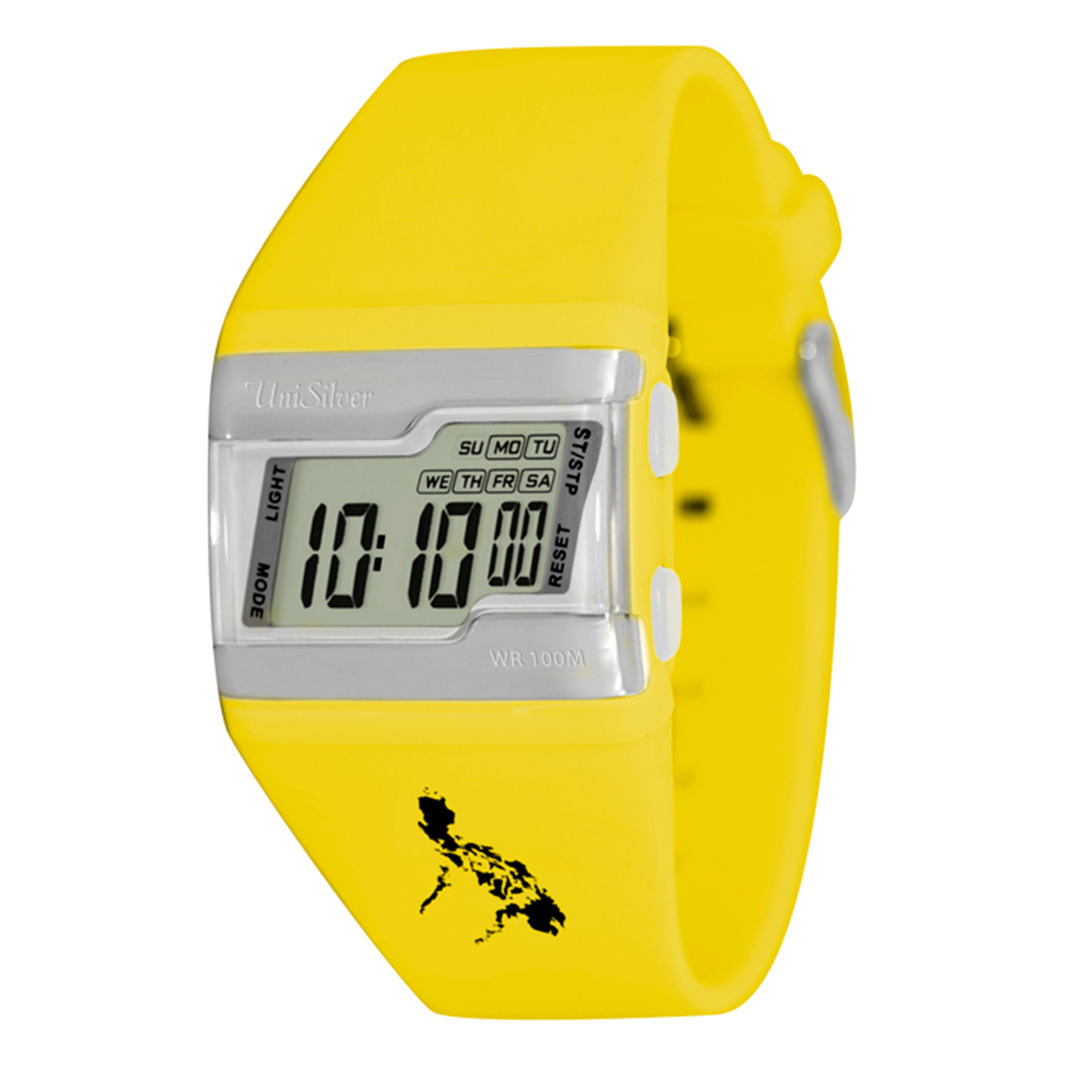 UniSilver TIME Makabayan FLXY Baller Men's Yellow Rubber Strap Watch