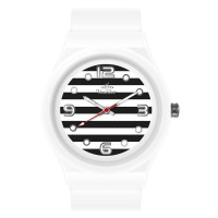 STRIPES ' N DOTS ANALOG WATCH