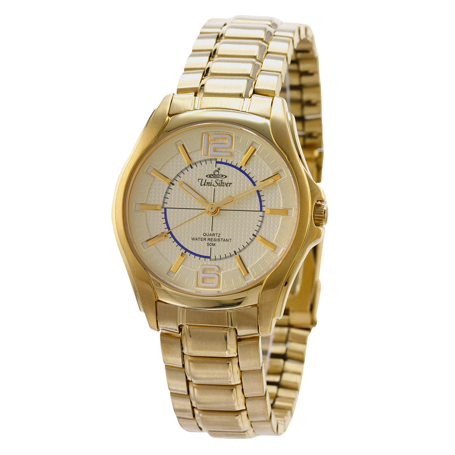 SYNERGI GOLD STAINLESS STEEL ANALOG WATCH