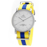 STYL-O-LOGY STAINLESS STEEL NYLON ANALOG WATCH