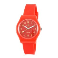 UniSilver TIME Womens Red-Orange Analog Rubber Watch