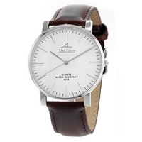 STYL-O-LOGY STAINLESS STEEL LEATHER ANALOG WATCH