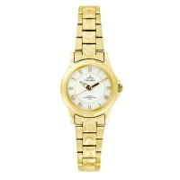 UniSilver TIME Ladies' Amaranth Pair Analog Stainless Steel Gold / Off-White KW045-2204
