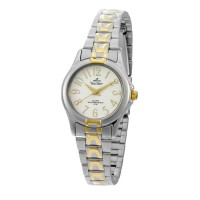 UniSilver TIME Ladies' Estillo Pair Analog Stainless Steel Two-Tone / White KW046-2304
