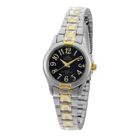 UniSilver TIME Ladies' Estillo Pair Analog Stainless Steel Two-Tone / Black KW046-2305
