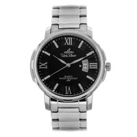 UniSilver TIME Men's Magnifique (Polished Bezel) Pair Analog Stainless Steel Silver / Black KW1959-1102