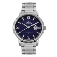 UniSilver TIME Men's Magnifique (Polished Bezel) Pair Analog Stainless Steel Silver / Dark Blue  KW1959-1103