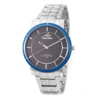 UniSilver TIME Men's Zenturia Pair Analog Stainless Steel Silver/Blue/Navy Blue KW2243-1106