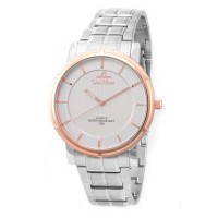 UniSilver TIME Men's Zenturia Pair Analog Stainless Steel Silver/Rose Gold/Off-White KW2243-1501