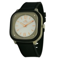 SPARQEE Unisex Analog Rose-Gold/Black Rubber KW3601-1002 Watch