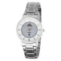 ECOTECH SOPHISTICO Women's Solar-Powered Analog Gray/Silver Stainless Steel KW3524-2001