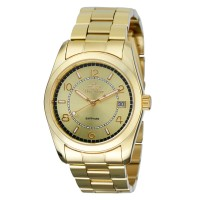 ZELVIN Analog Sapphire Gold/Gold Stainless Steel Watch