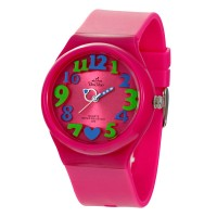 8'O HEARTS DELUXE FLXY ROUND ANALOG RUBBER WATCH