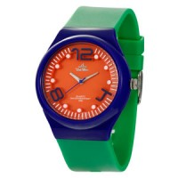 POLKA TOP FLXY ROUND ANALOG RUBBER WATCH