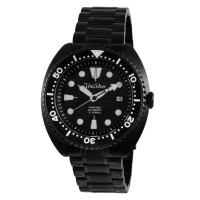 REMUS GEOS XIV Men's Automatic Analog Sapphire Black Stainless Steel Watch