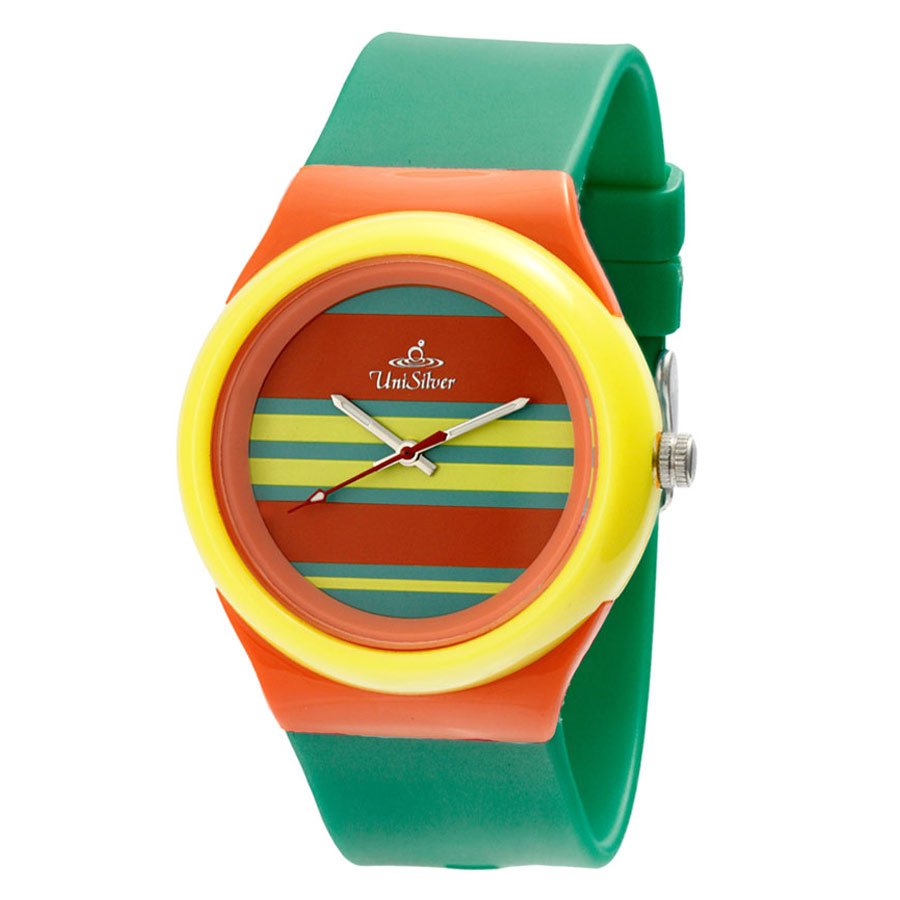 EEZY FLXY ROUND ANALOG RUBBER WATCH